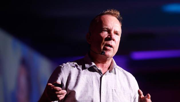 Foto del cofundador de Netflix, Mitch Lowel, este miércoles durante una charla en el marco del Foro Go 3.