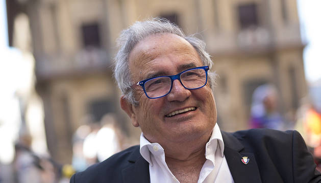 Luis Sabalza, esta semana durante la entrevista en plaza Consistorial, en la terraza Al norte del Sur