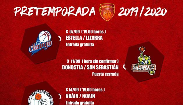 Basket Navarra comienza el lunes la pretemporada con tres amistosos