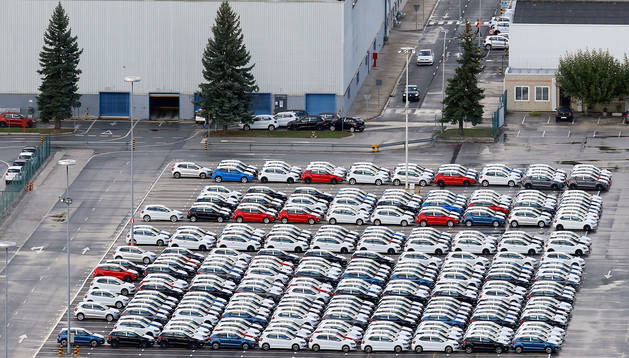 Foto de archivo de la fábrica de Volkswagen en Landaben.