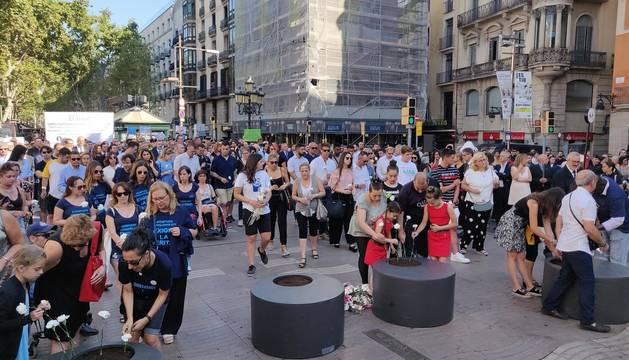 Barcelona conmemora el segundo aniversario del 17A
