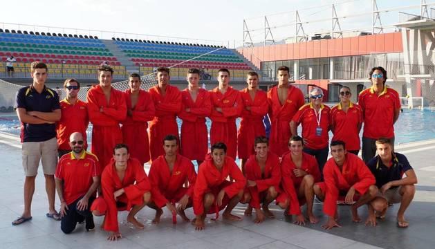 Selección española de waterpolo júnior.