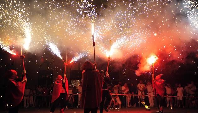 Todas las fotos de los Correfoc en la Plaza de Navarra de las Fiestas de Tafalla 2019 en el Diario de Navarra