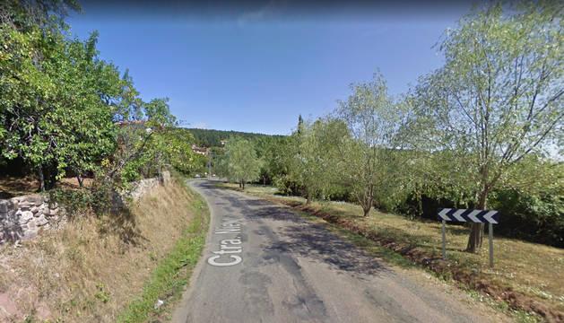 Foto de la carretera LR-253, en la que ha tenido lugar el accidente.