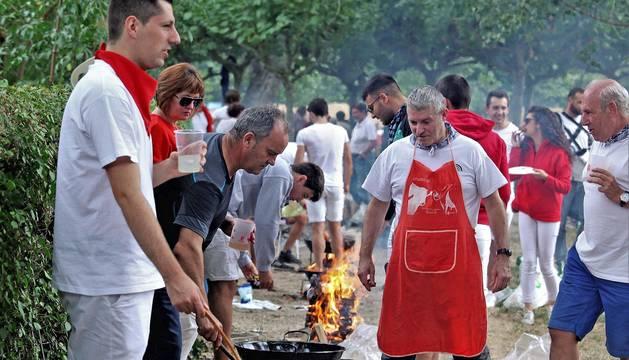 Fotos de los calderetes de Fiestas de Burlada 2019