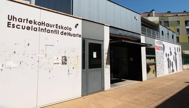 La escuela municipal infantil Pérez Goyena de Huarte, cuyo cierre ha ordenado el alcalde en funciones, Iñaki Crespo.