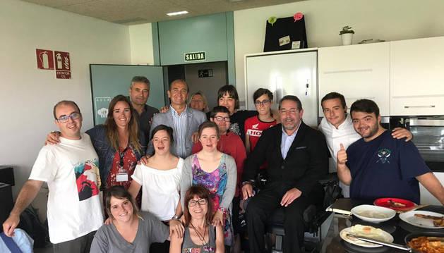 Participantes del programa 'Restaurante sin barreras'.