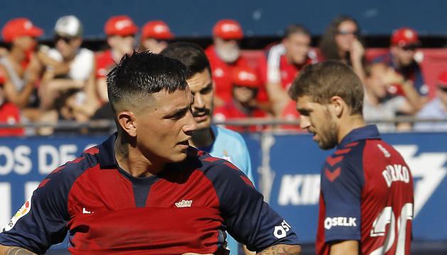 Chimy Ávila durante el partido contra el Eibar
