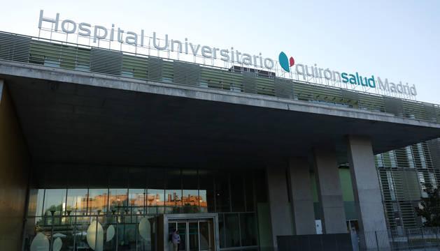 Foto de la fachada del Hospital Universitario Quirón Salud de Madrid, donde el Rey Juan Carlos ha sido intervenido.