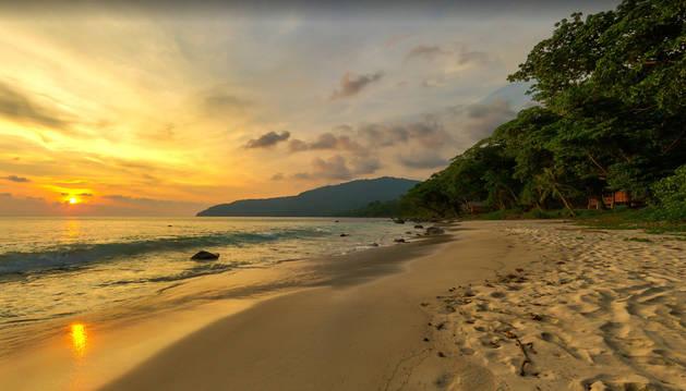Foto de la isla de Weh, lugar en el que ocurrieron los hechos.
