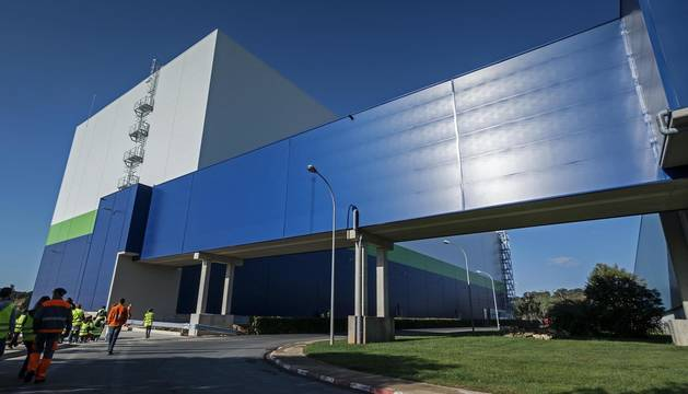Imagen del exterior de la fábrica papelera de Allo, perteneciente al grupo Essity.