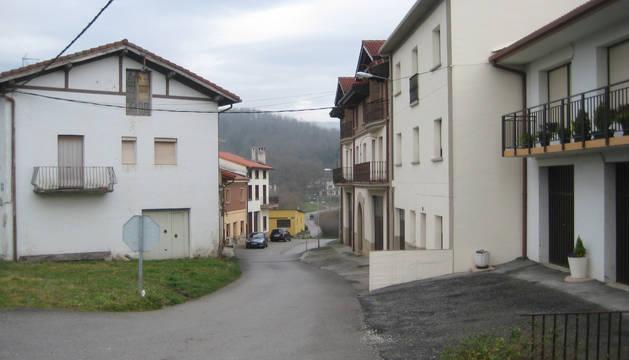 Imagen de archivo del barrio de Beikolar, situado junto a la A-1, en Alsasua.