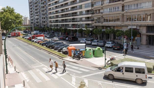 Foto del paseo de Pamplona, donde se harán las obras.