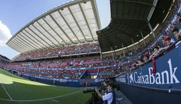 Imagen de la zona de Preferencia de El Sadar durante el partido ante el Eibar disputado el pasado sábado.