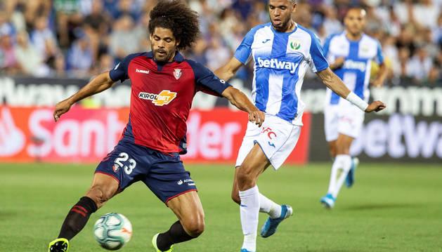 Aridane, en el partido contra el Leganés.