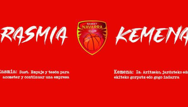Basket Navarra presenta su campaña de abonados con el lema 'Rasmia/Kemena'