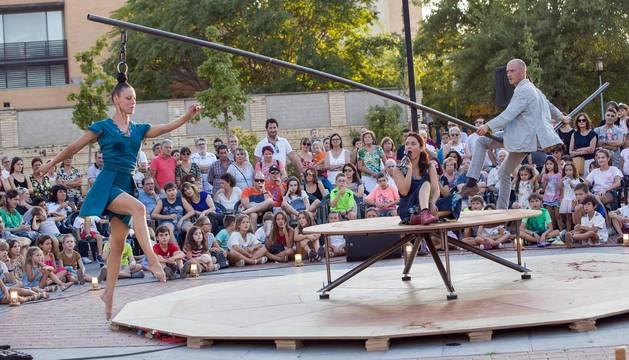 Fotos del XIII Festival de Circo de Navarra de este miércoles en Tudela.