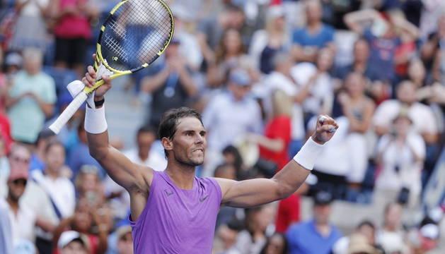 Rafa Nadal, tras ganar a Chung.