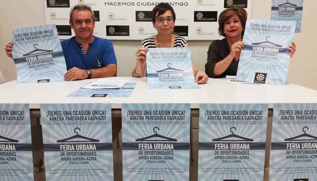 Foto de José Flamarique, presidente del colectivo; Loreto San Martín, gerente; y Maribel Ausejo, asociada.