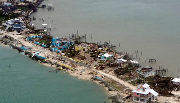 Estado en el que ha quedado la costa de Bahamas tras el paso del huracán Dorian.