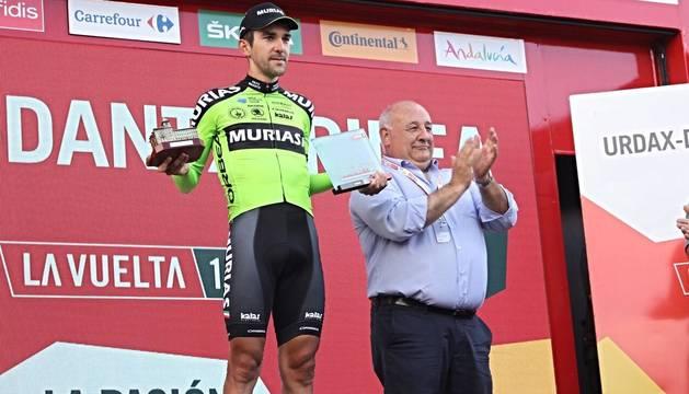 Mikel Iturria, en el podio.