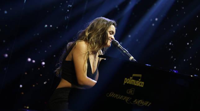 Foto de Amaia Romero, durante su actuación en 'El Hormiguero'.