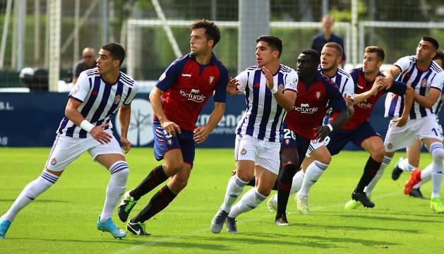 Osasuna Promesas volverá a jugar en Tajonar. Ante el Valladolid, se impuso 1-0.