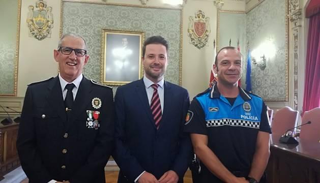 De izda a dcha, Juan Cruz Ruiz, Alejandro Toquero y Ricardo Casamián.