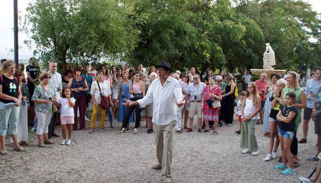 Foto de una actuación del festival en el parque del Romero.