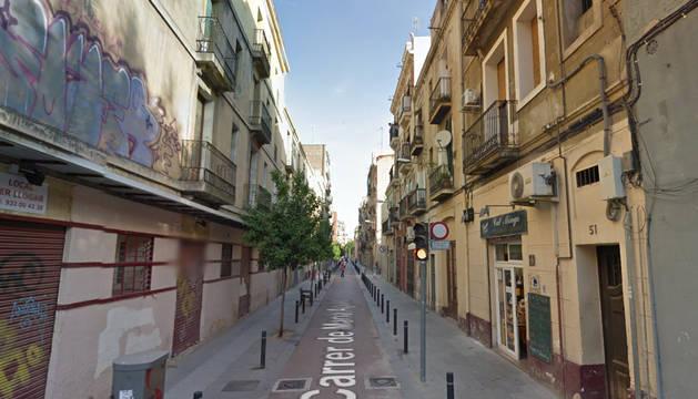 Calle Pujades de Barcelona, donde se produjo la agresión.