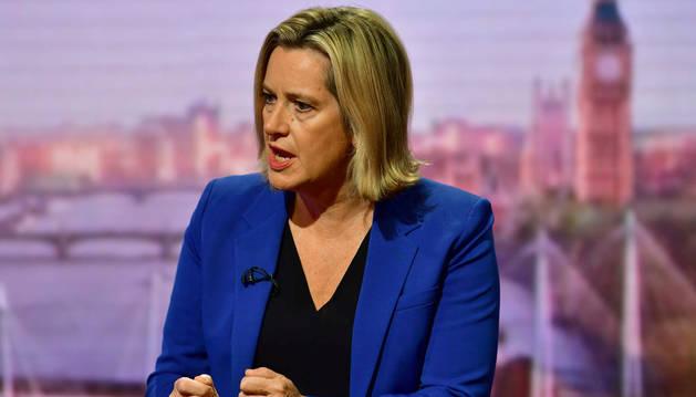 La exministra de Trabajo de Reino Unido, Amber Rudd.
