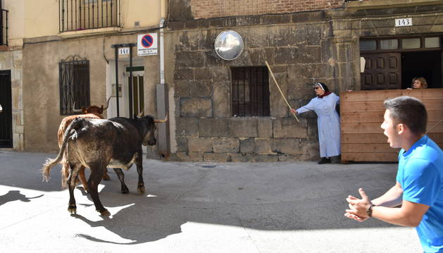 Foto de Sor Elsa Bermejo vuelve por segundo año consecutivo a los encierros de las fiestas de Igea.