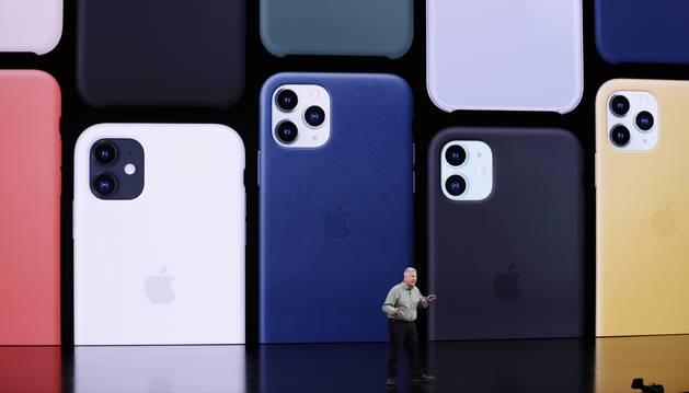Foto de la presentación del nuevo modelo de la compañía en el teatro Steve Jobs de su sede de Cupertino