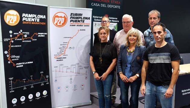 Foto de representantes de la organización y de los organismos colaboradores presentaron ayer el evento.