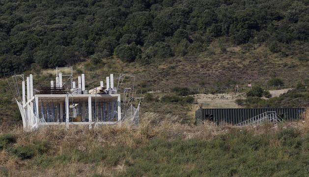 Vista del campo de tiro de Aizoain, de cuyas inmediaciones partiría el cierre previsto de la zona militar de San Cristóbal-Ezkaba.