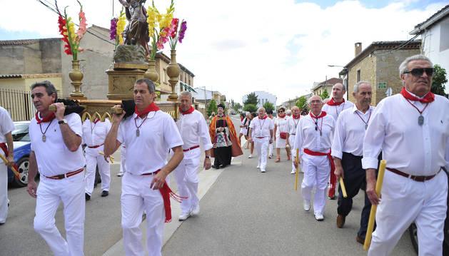 Foto de un momento de la procesión de Mélida de 2017.