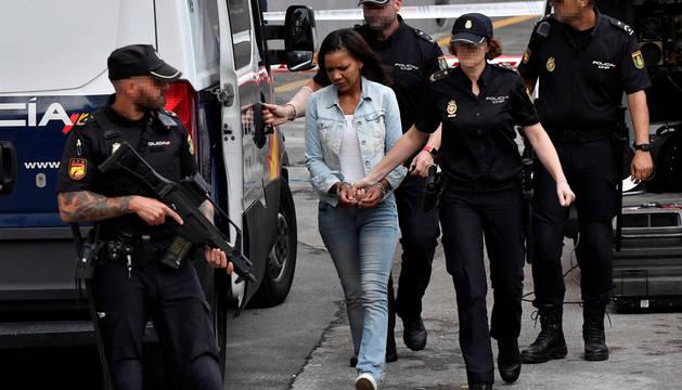 Ana Julia Quezada, autora confesa de la muerte del niño Gabriel Cruz, es trasladada a la Audiencia Provincial de Almería.