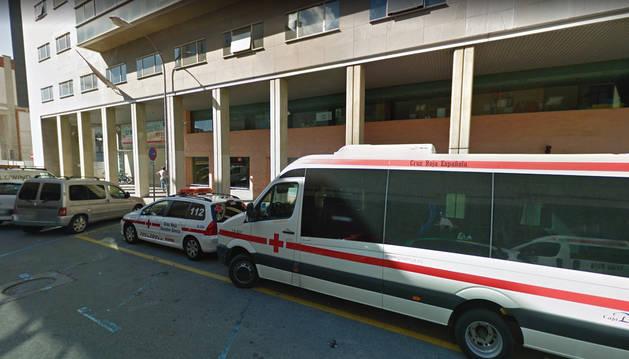 Foto de la sede de Cruz Roja Navarra, en la calle Leyre.
