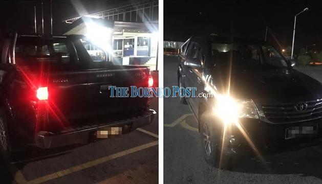 Imagen del vehículo en el que viajaba el pamplonés fallecido.