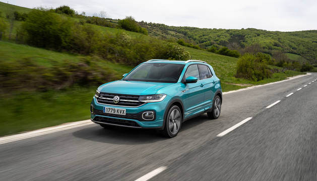 Foto del Volkswagen T-Cross fabricado en Volkswagen Navarra.