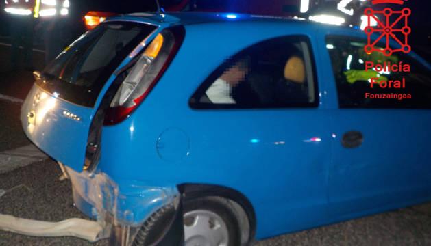 Foto de uno de los vehículos afectados en el accidente.