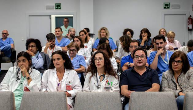Foto de la asamblea de médicos de este jueves.