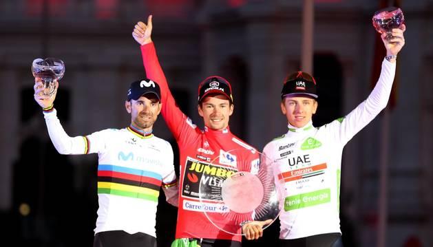 Séptimo podio de Valverde en La Vuelta y noveno en una grande por etapas