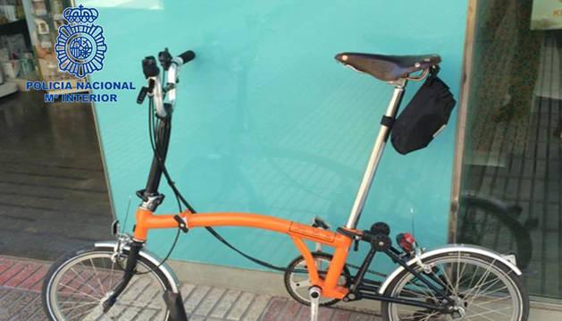 Foto de la bicicleta que había sido robada.