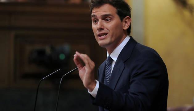 Rivera, en el Congreso de los Diputados.