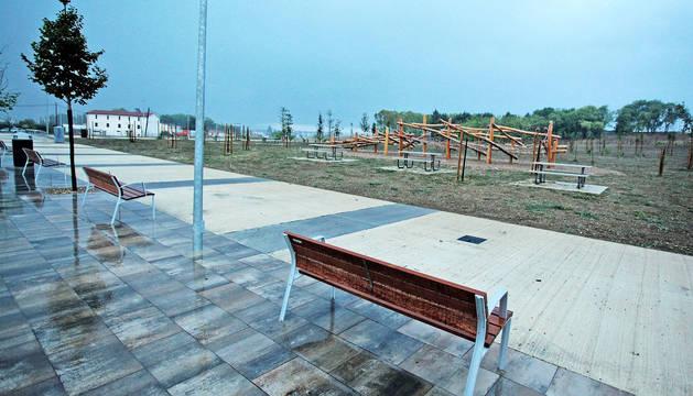El solar del antiguo matadero, convertido ahora en parque y espacios abiertos.