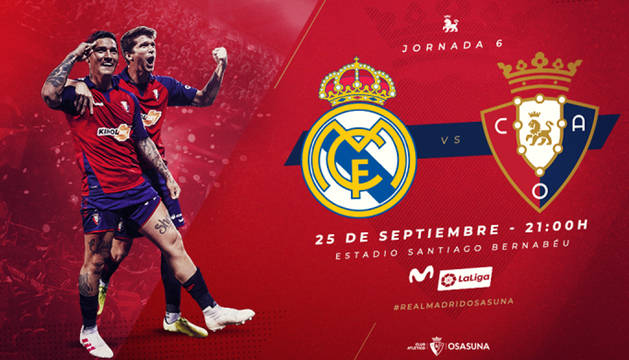 Osasuna saca este jueves 400 entradas pare el choque del Santiago Bernabéu