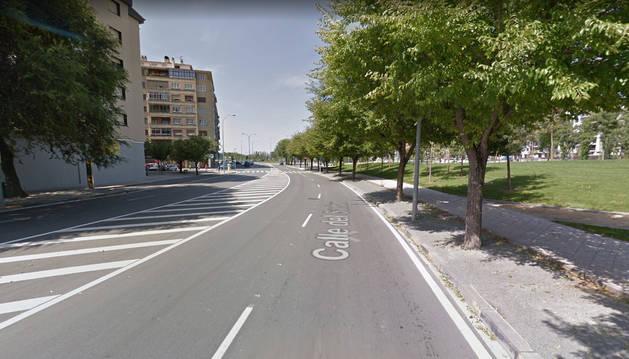 Foto de la calle Sadar, a la altura del Parque Orfeón Pamplonés.