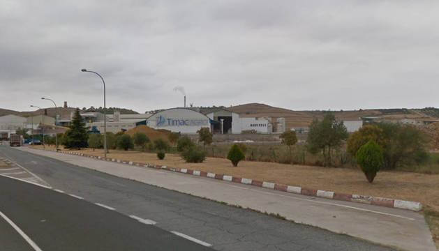 Foto de la fábrica de Timac Agro de Lodosa, vista desde la NA-6540.