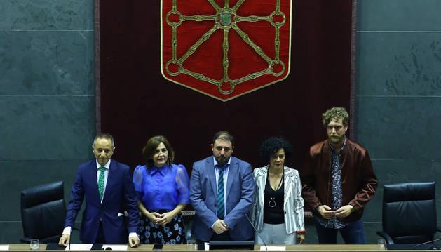Foto de Juan Luis Sánchez de Muniáin, Yolanda Ibáñez, Unai Hualde, Inma Jurío y Maiorga Ramírez.
